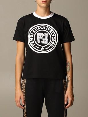 Fendi Cotton T-shirt With Roma 1925 Logo