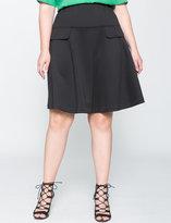 ELOQUII Plus Size Pocket Detail A-Line Skirt