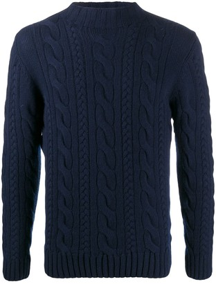 Tagliatore Long Sleeve Chunky Knit Jumper