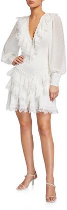 Bardot Dixie Lace Long-Sleeve Mini Dress