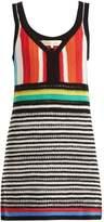 Diane von Furstenberg Striped crochet-knit cotton dress