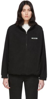 Essentials Black Fleece Half-Zip Sweater