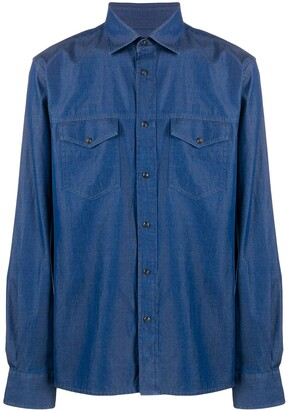 Corneliani Flap Pocket Denim Shirt
