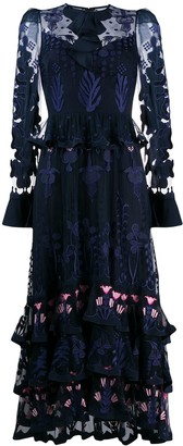 Temperley London embroidered layered dress