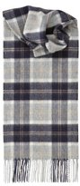 Johnstons of Elgin Women's Pure Cashmere Scarves Scottish Tartan Silver