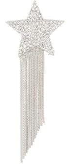 Saint Laurent Star & Love Crystal-embellished Tassel Brooch - Crystal
