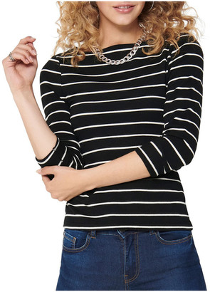 Only Finea Boat Neck Top