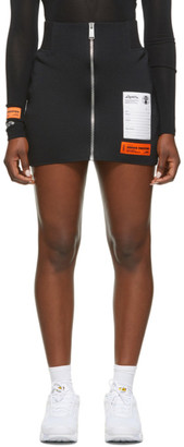 Heron Preston Black Zip Miniskirt