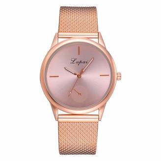 LMDGO Lvpai Women's Casual Quartz Silicone Strap Band Watch Analog Wrist Watch(Rose Gold)
