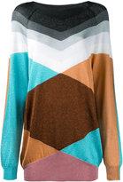 Marco De Vincenzo geometric pattern jumper - women - Polyamide/Polyester/Acetate - 46