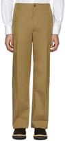 Stella McCartney Khaki Wide-Leg Pleated Trousers