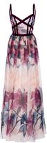 Elie Saab Printed Organza Gown