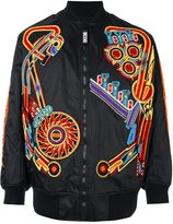 Kokon To Zai pinball patch bomber jacket