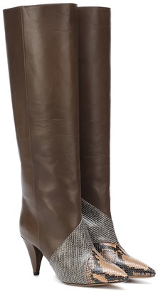 Isabel Marant Laomi snake-effect leather boots