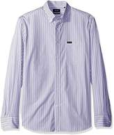 Façonnable Men's Club Fit Thin Stripe Poplin Woven