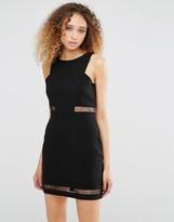 Daisy Street Dress With Mesh Inserts