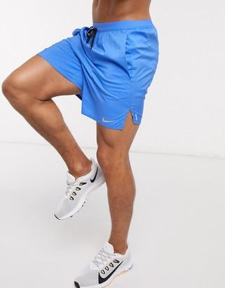 Nike Running flex stride shorts in blue