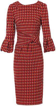 Dorothy Perkins Womens *Jolie Moi Red Geometric Print Puff Sleeve Dress, Red