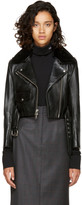 Calvin Klein Black Leather Biker Jacket