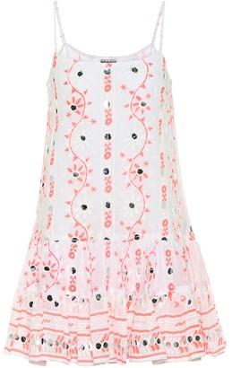 Juliet Dunn Embellished cotton minidress