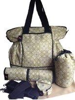 House of Botori Kaira Diaper Tote Bag, Filigree Sage by House of Botori