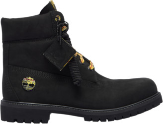 """Timberland 6"""" Premium Waterproof Boots Outdoor Boots - Black Plaid"""