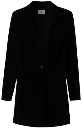 Akris Punto Velvet One-Button Blazer