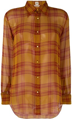 Hermes Pre-Owned Plaid Silk Shirt