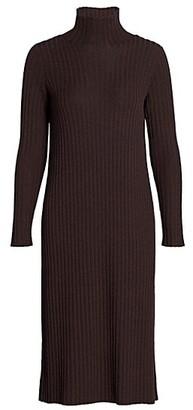 Eileen Fisher Scrunchneck Merino Wool Dress