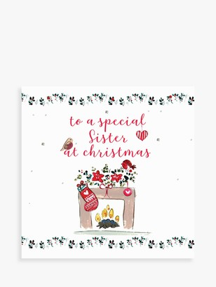 Laura Sherratt Designs Stocking Sister Christmas Card