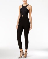 Material Girl Juniors' Lace-Detail Jumpsuit, Only at Macy's