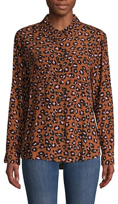 Sanctuary Leopard-Print Long-Sleeve Shirt