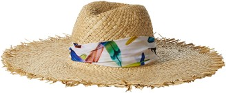 Ale By Alessandra Women's Lulu Raffia Sunhat Packable Adjustable & UPF Rated