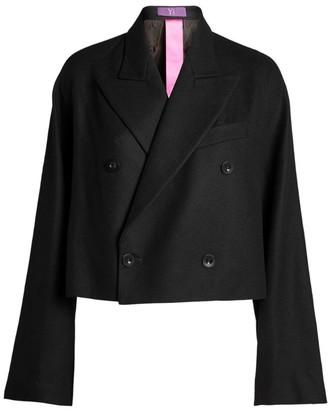 Yohji Yamamoto Cropped Double-Breasted Jacket