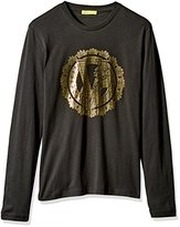 Versace Men's Long Sleeve Logo T-Shirt