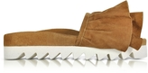 Joshua Sanders Tabac Ruches Suede Slide