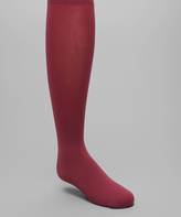 Me Moi Burgundy Winter Opaque Tights - Toddler & Girls