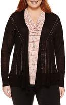WORTHINGTON Worthington Long Sleeve Cardigan-Plus