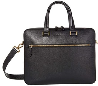Salvatore Ferragamo Revival 3.0 Briefcase (Black) Briefcase Bags