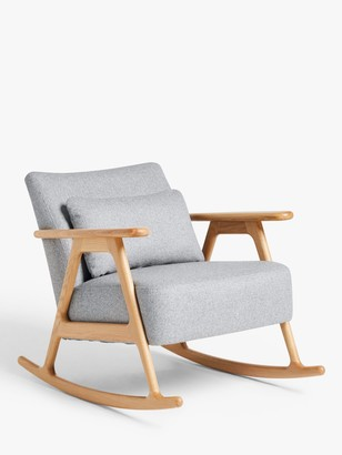 John Lewis & Partners Hendricks Rocking Chair, Light Wood Frame