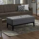 Bronx Ivy Baughman Tufted Storage Ottoman Ivy Upholstery Color: Slate Gray