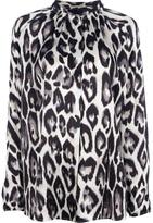 Lanvin leopard print blouse