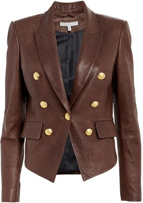 Veronica Beard Cooke Tumbled Leather Jacket