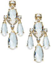 Kate Spade Gold-Tone Crystal Chandelier Earrings