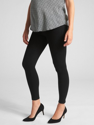 Gap Maternity Inset Panel Knit Favorite Ankle Jeggings