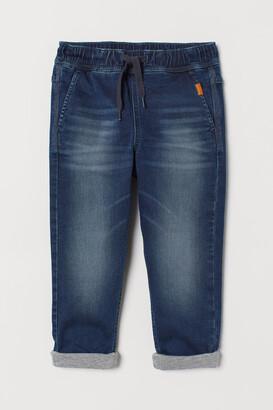 H&M Lined Denim Joggers - Blue