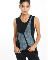 Express EXP core black graphic muscle tank