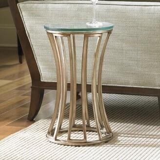 Lexington Tower Place Glass Top Pedestal End Table