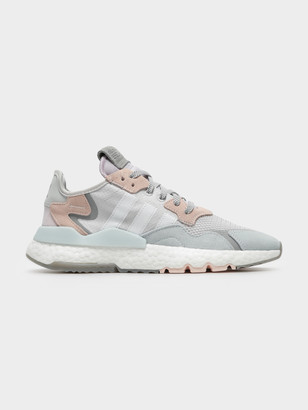 adidas Womens Nite Jogger in Grey Pink White