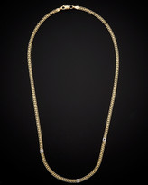 Italian Gold 14K Bismark With White Cube Station Necklace